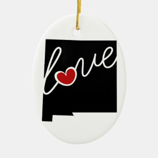 New Mexico Love!  Gifts for NM Lovers Ceramic Ornament