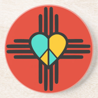 New Mexico, Love, Peace Beverage Coasters