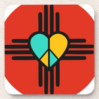 New Mexico, Love, Peace Drink Coasters
