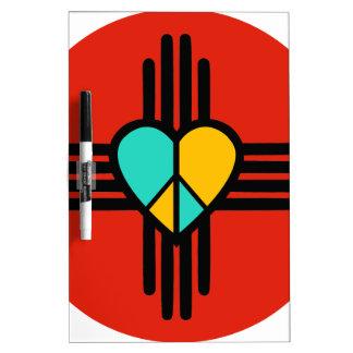 New Mexico, Love, Peace Dry-Erase Board