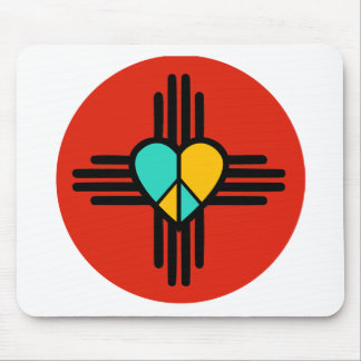 New Mexico, Love, Peace Mouse Pad