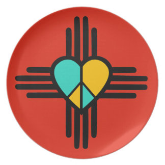 New Mexico, Love, Peace Party Plates