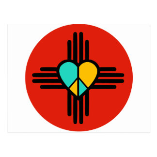 New Mexico, Love, Peace Postcard