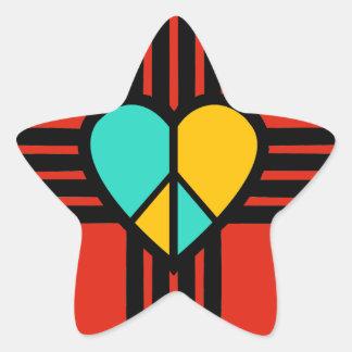 New Mexico, Love, Peace Star Sticker