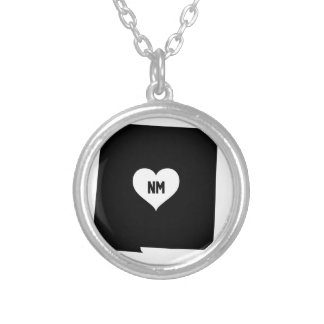 New Mexico Love Silver Plated Necklace