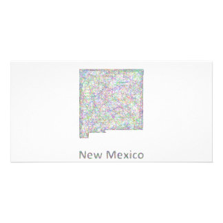 New Mexico map Photo Card Template