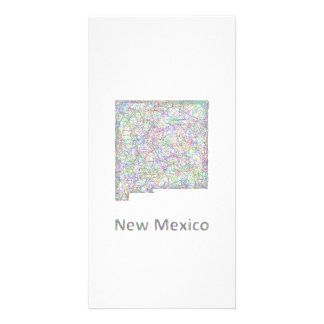 New Mexico map Photo Greeting Card