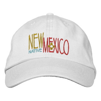 New Mexico Native Embroidered Hat