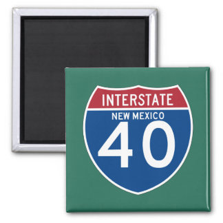 New Mexico NM I-40 Interstate Highway Shield - Magnet