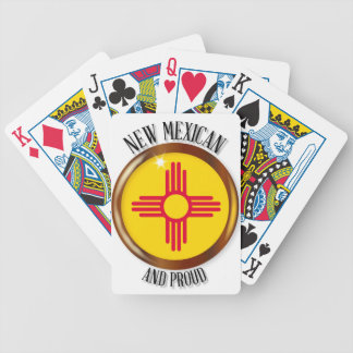 New Mexico Proud Flag Button Poker Deck