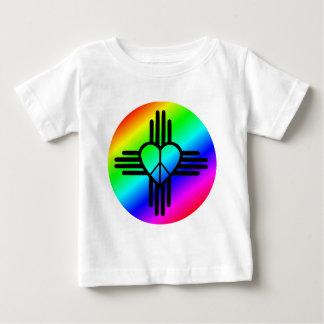 New Mexico Rainbow Love Baby T-Shirt