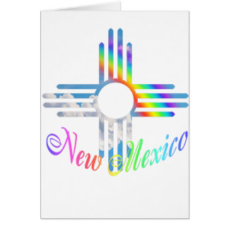 New Mexico Rainbow Zia Symbol Card