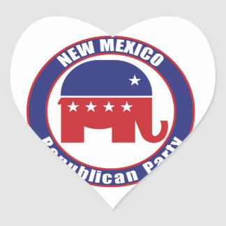 New Mexico Republican Party Heart Stickers