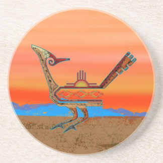 New Mexico Roadrunner Drink Coaster