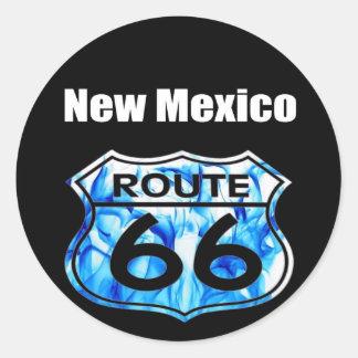 new mexico route 66 classic round sticker