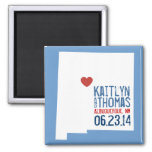 New Mexico Save the Date - Customizable City Fridge Magnets