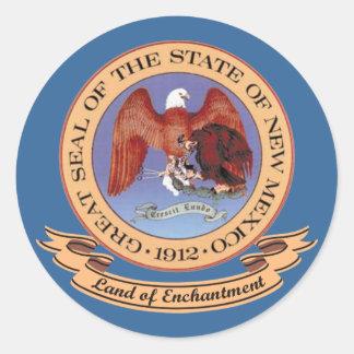 New Mexico Seal Round Sticker