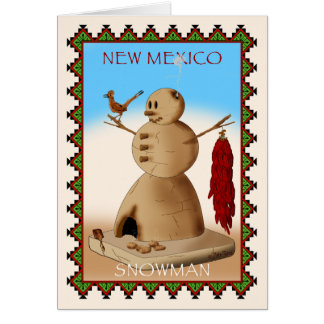 New Mexico Snowman Card