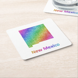 New Mexico Square Paper Coaster