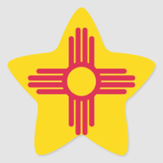 New Mexico Star Sticker
