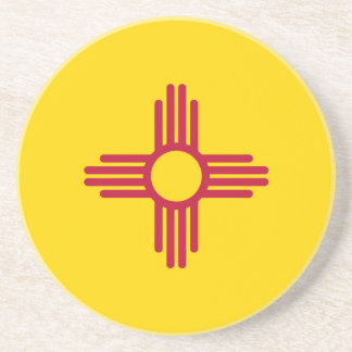 New Mexico State Flag Beverage Coasters