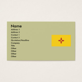 New Mexico State Flag Business Card