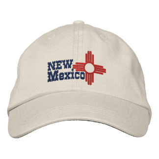 New Mexico State Flag Design Embroidered Baseball Caps