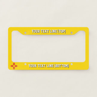 New Mexico State Flag Design on a Personalized License Plate Frame