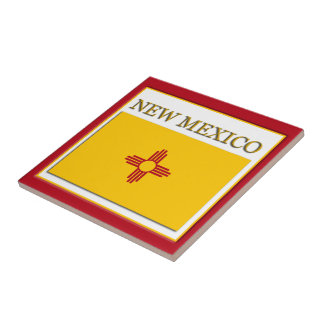 New Mexico State Flag Design Tile