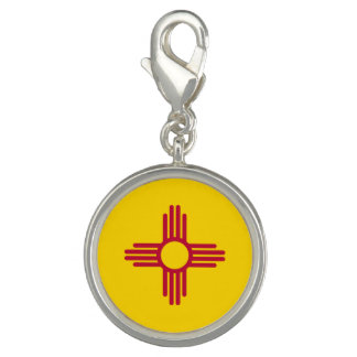 New Mexico State Flag Photo Charms
