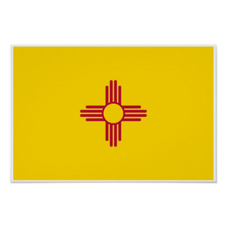 New Mexico State Flag Poster