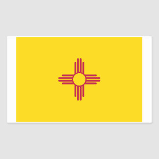 New Mexico State Flag Sticker - 4 per sheet