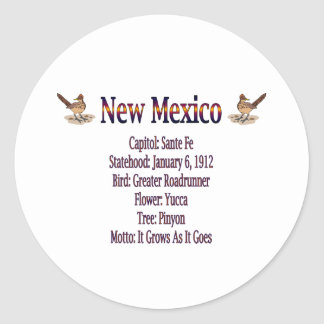 New Mexico State Info Sticker