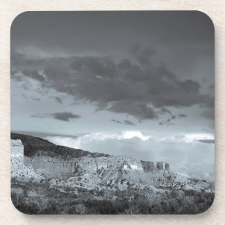New Mexico Storm Black White Beverage Coaster