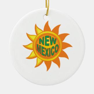 New Mexico sun Ceramic Ornament