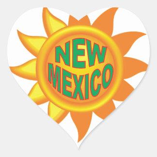 New Mexico sun Heart Sticker