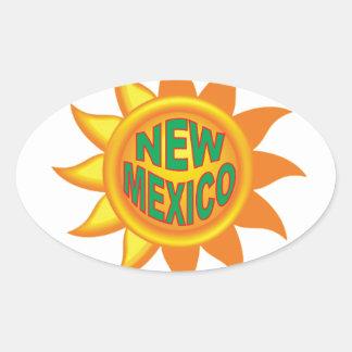 New Mexico sun Oval Sticker