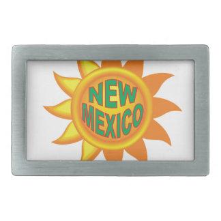 New Mexico sun Rectangular Belt Buckle