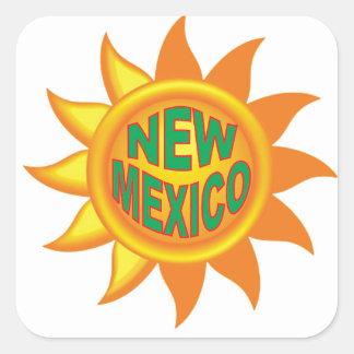 New Mexico sun Square Sticker