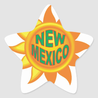 New Mexico sun Star Sticker