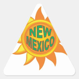 New Mexico sun Triangle Sticker