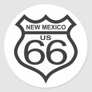 New Mexico US Route 66 Classic Round Sticker