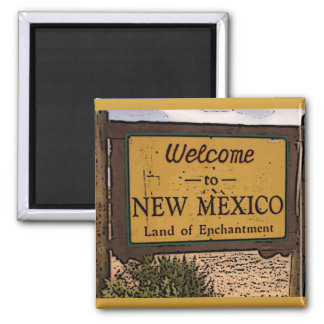 New Mexico welcome sign artsy magnet
