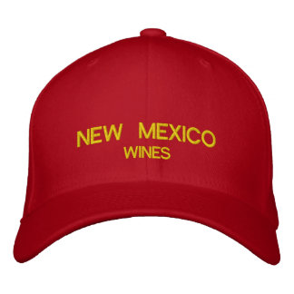 New Mexico Wines Custom Hat Embroidered Baseball Cap