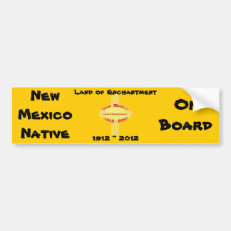 New Mexico - Zia Centennial Celebration Bumper Sticker