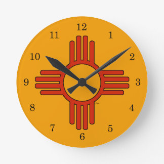 New Mexico Zia Round Clock