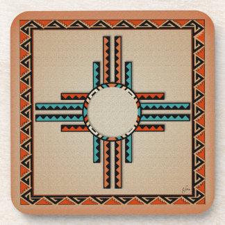 New Mexico Zia (sun) Beverage Coaster