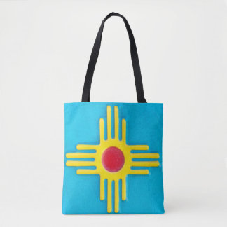 New Mexico Zia Sun God Tote Bag