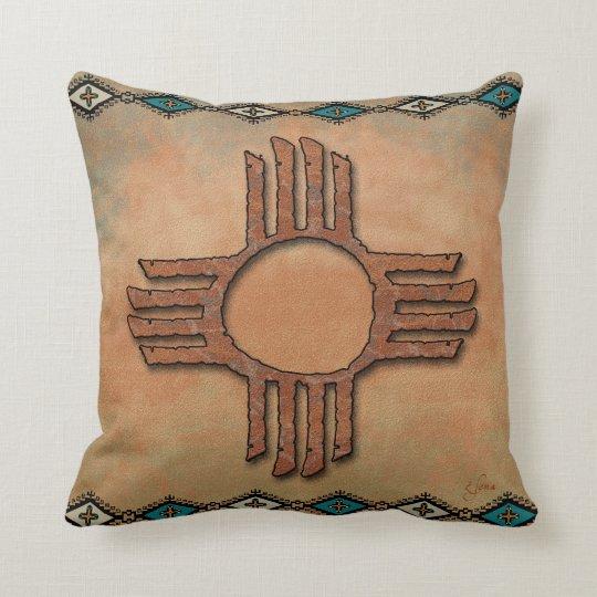 New Mexico Zia (sun) Throw Pillow