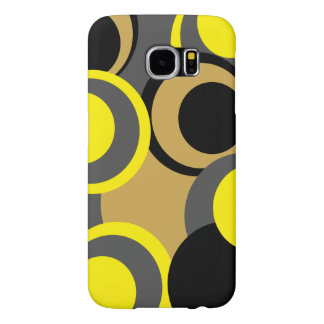 New modern colorful circles grey black yellow samsung galaxy s6 cases